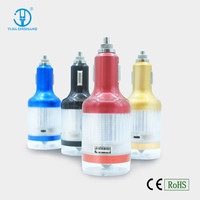 Patent 3 in 1 Lifesaving Hammer Multiple Mobile Phone Car Charger With Torch,Caution Light Function