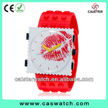 Silicon custom face watches transparent watch case customized silicon stamp watches