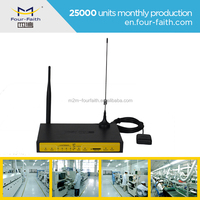 F7A34 gps 4g wireless router with sim card rj45 antenna industrial gps module m
