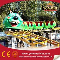 Attraction budworm train caterpillar mini roller coaster for sale