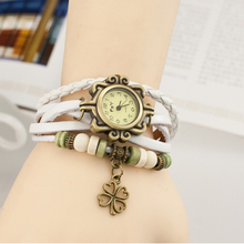 High school class student retro leather cowhide bracelet watch dials for jewelry