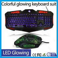 led light ergonomic gamer usb computer keyboard mouse