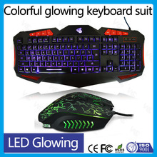 led light ergonomic gamer usb computer keyboard mouse