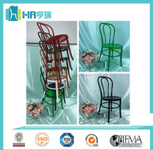 Clearly colored resin stackable Thonet Chair for restaurant