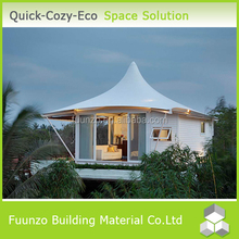 Long Life Habitable Low Cost Private Custom Steel A-frame House Kit