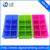 custom square shaped silicone ice tray with logo,brand,8 cavity silicone ice cube tray