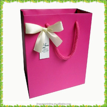 Cute Pink Gift Paper Bag for woman with handle