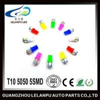 2015 hot selling led car interior light T10 5050 5SMD car led light bulbs