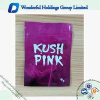 factory sale KUSH PINK resealable herbal incense bag foil 10g potpourri bag