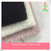 Looped Pile wool knit fabric/fashion wool fabric for coats