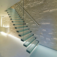 Safe Tempered Laminated Glass Stair Price with CE CCC
