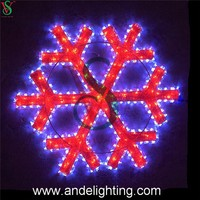 Led motif light 3D Christmas Snowflake