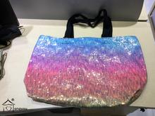 2015 colorful non woven shopping tote bag handle