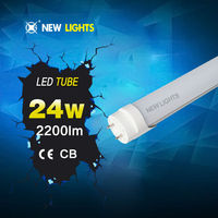 asian chinese tube free tube 24w smd 2835 PF>0.9 no flash CRI 80 100lumen/w with CE ROHS SAA certification