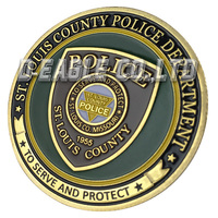 The Most Popular Cheap St. Louis Country PD 1158/ Custom Challenge Coin/ Custom Coin