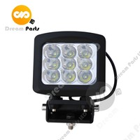 90w high power square spot flood led work light for truck tracktors jeep offroad heavy duty suv atv 12v 24v