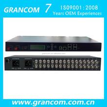 16E1 4 eth PDH optical multiplexer with LCD 1+1 Fiber port