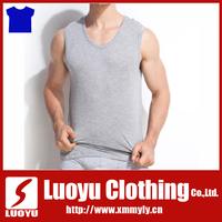 95% cotton 5% Spandex men gym wear fitness tank top