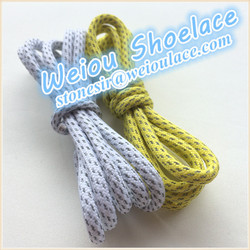 Weiou 49 inch fashion 3M reflective shoelace for asics