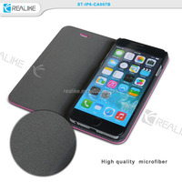"""Best Quality For Apple iPhone 6 Plus 5.5"""" Genuine Leather Flip Wallet Case Cover Pouch Pink"""
