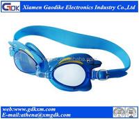 Silicone anti-fog funny swimming goggles for kids