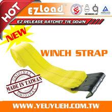 "[EZ LOAD] Truck Exterior Accessories Cargo Winch with 4"" Straps"