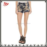 2015 summer women jeans denim printed shorts