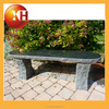 Outdoor stone and wood piano long bench for garden furniture