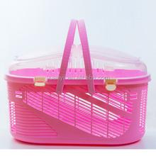 Hot sale plastic flight cage pet carrier dog crate