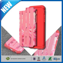 C&T 2015 Innovative case for iphone 6 hybrid rubberised back cover case / shell / shield (solid red) in stock