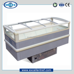 top open refrigerated display cabinet with compressor self-contained used as promotion freezer