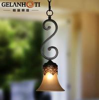 American small wrought iron chandelier vintage chandelier simple European restaurant bar hall corridor lights