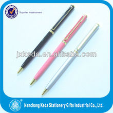 new style best seller slim smooth writing hotel logo silm Kugelschreiber with the logo on the clip