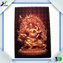 2015 hot sale Indian god 3d lenticular printing, 3d lenticular poster