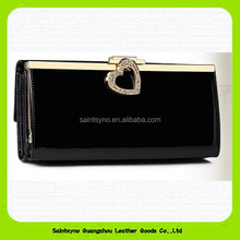 15377 Leather ladies wallet, PU leather clutch purse, woman wallets in China