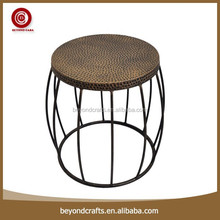 Newest fashion popular good quality wrought iron industrial stool