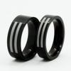 black plating wedding ring set