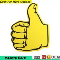 Melors Promotional Big Custom EVA Foam Finger Cheering Hands eva foam hand