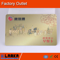 Credit Card with embossed numbers, customized logo printing, LF/HF/UHF chips