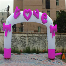 2015NingBang inflatable pink arch with special logo for party or outdoor decoration