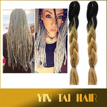 """24"""" SYNTHETIC JUMBO BRAIDING HAIR OMBRE COLOR 100G/PC 26 COLORS IN STOCK OMBRE KANEKALON SYNTHETIC HAIR"""