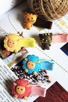 angel hair christmas decoration for kids high class fashion accessories eco friendly hairpin hand painted hair duck clip