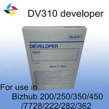 Compatible black developer for Konica Minolta Bizhub 200/250/350/450/222/282/7728/362 DV310