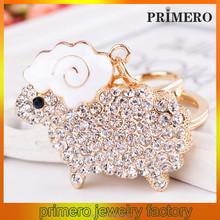 PRIMERO 2015 New Hot fashion rhinestone gifts&crafts wholesale keychains Small sheep keychain key chains for souvenir