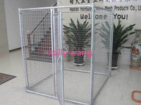 Haotian 10ft galvanized welded wire mesh dog kennel with top cover factory