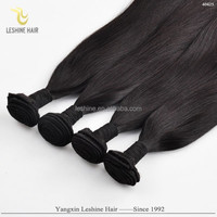 Hot New 100% Human Hair Weave Top Quality No Shedding No Tangle Unprocessed european hair 20 inches colour 1b