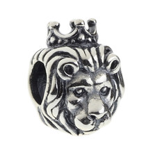 Wholesale European Style Lion King of Animals 925 Sterling Silver Animal Charm Bead
