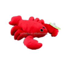 Stuffed fresh red lobster pet animated toy for cat
