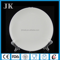 Factory directly cheap white porcelain dinner plate 8 inch