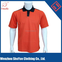 custom orange color combination mens polo shirt